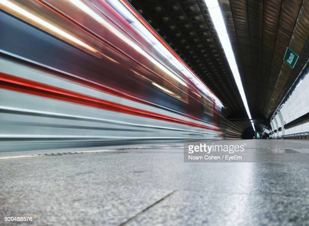 Blurred Motion Of Road