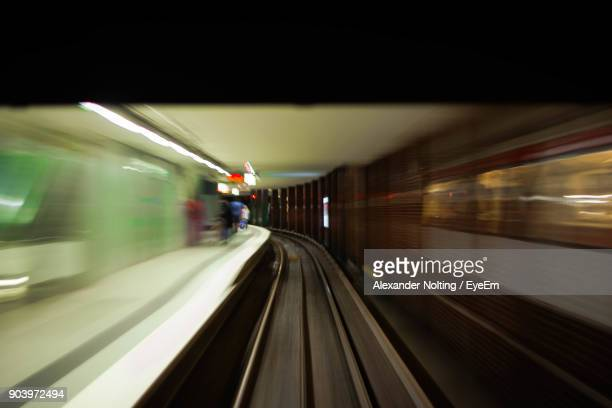 Blurred Motion Of Subway Station