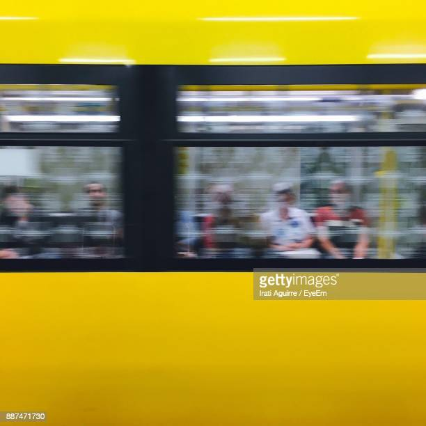 Blurred Motion Of Yellow Train