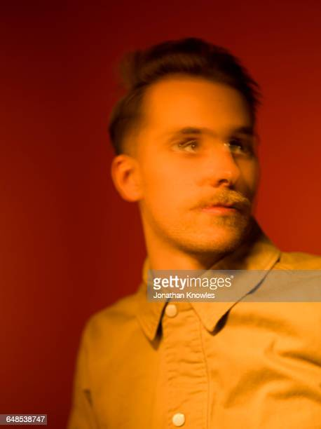 blurred motion portrait, male - stubble stock pictures, royalty-free photos & images