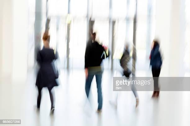Blurred People Indoors
