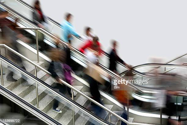 Blurred People on Stairs