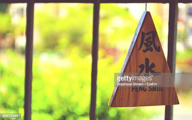 blurred plants seen through window - feng shui stock photos and pictures