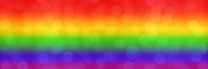 blurred rainbow background with natural bokeh light balls. abstract gradient web wallpaper. LGBT movement concept. - Image 1131009346