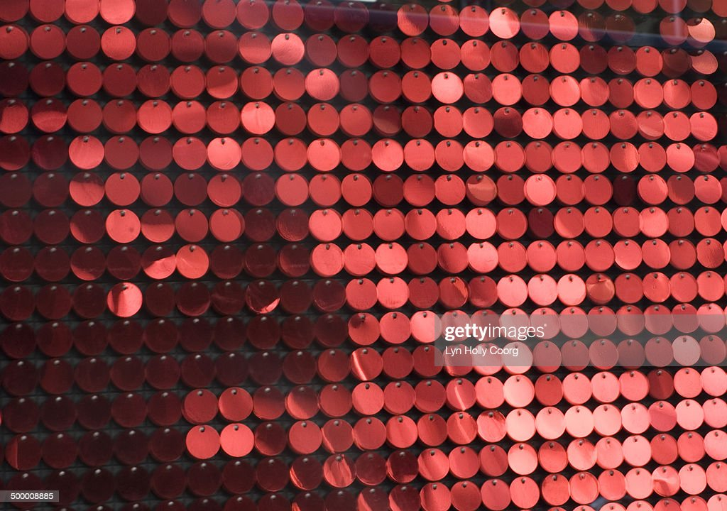 Blurred red metal discs : Stock Photo