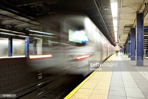 blurred subway - new york city subway stock pictures, royalty-free photos & images