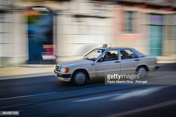Blurred Taxi