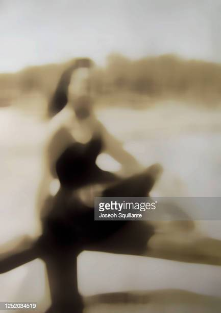 blurred woman in old-fashion bathing suit - joseph squillante stock pictures, royalty-free photos & images
