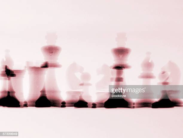 blurred x-ray image of chess pieces (toned)
