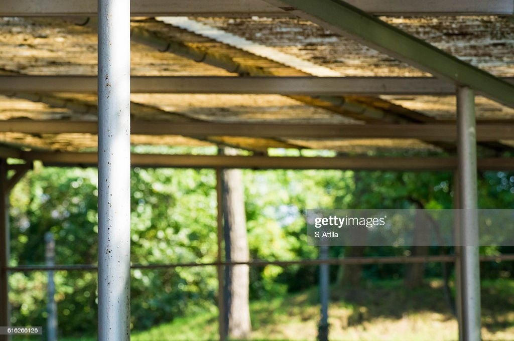 Blurry shot of an old roof outdoor : Stock Photo