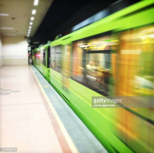 blurry subway - contemporary istanbul foto e immagini stock