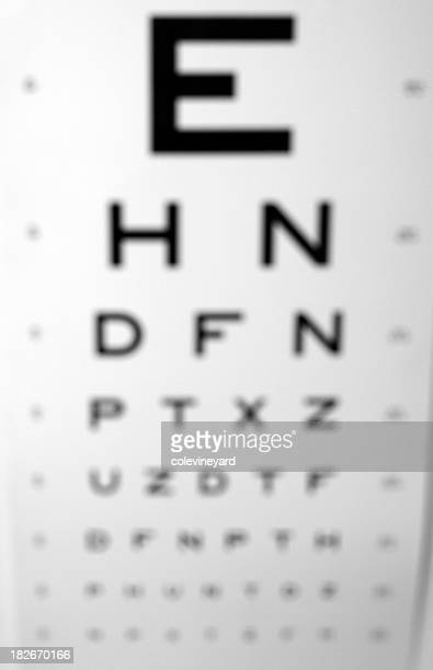 blury vision - eye chart stock pictures, royalty-free photos & images