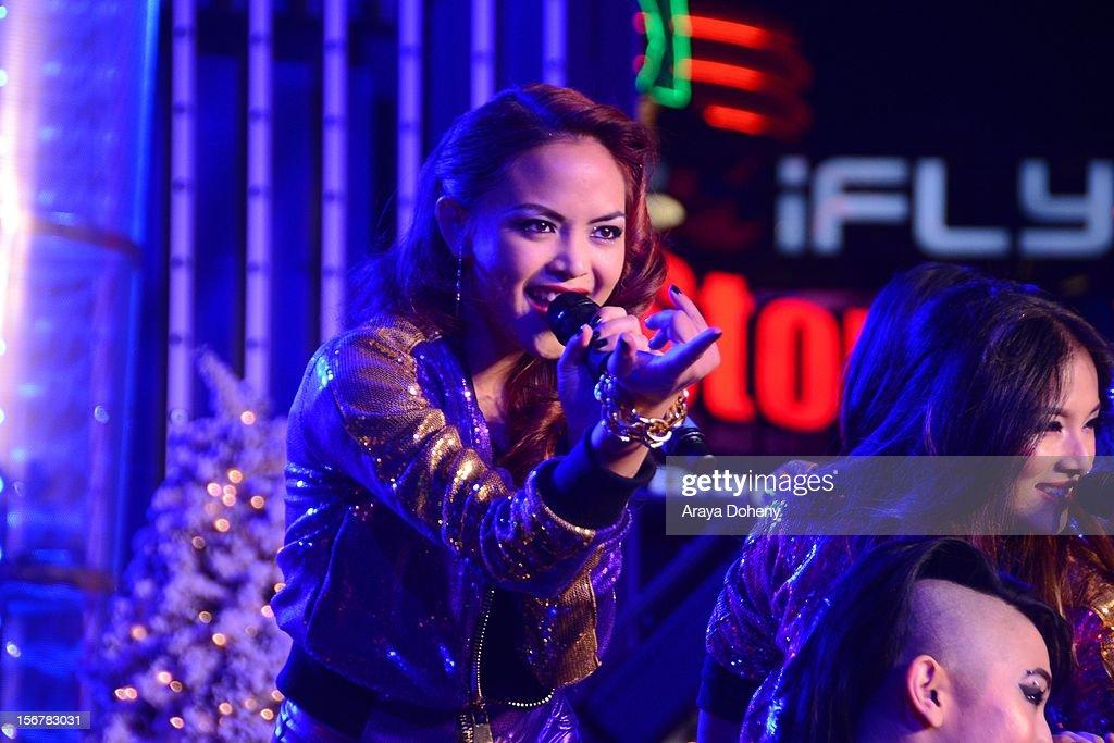 Blush perform at the 2012 Hollywood Christmas Parade Concert at Universal CityWalk on November 20, 2012 in Universal City, California.