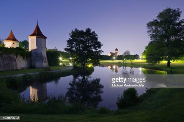CONTENT] Blutenburg Castle at night with church Leiden Christi Obermenzing Munich Bavaria Germany