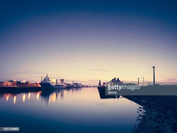 Blyth Harbour at dusk