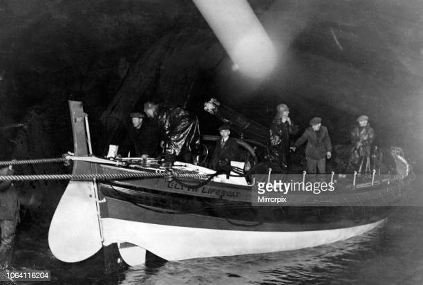 Blyth lifeboat returning to the lifeboat house after being put out to a vessel in distress 13th January 1932