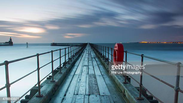 blyth west pier - blyth northumberland stock pictures, royalty-free photos & images