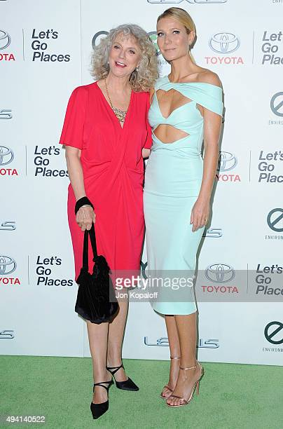 Blythe Danner and daughter Gwyneth Paltrow arrive at Environmental Media Association Hosts Its 25th Annual EMA Awards Presented By Toyota And Lexus...
