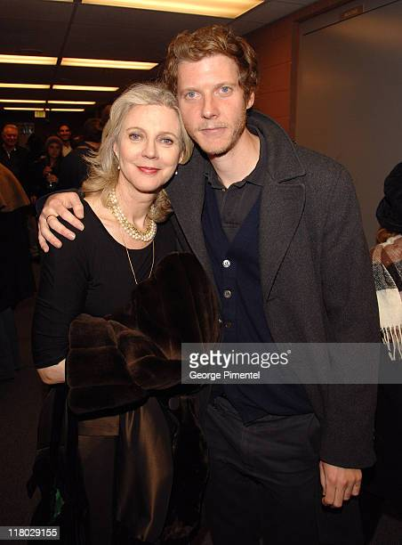 Blythe Danner and Jake Paltrow during 2007 Sundance Film Festival 'The Good Night' Premiere QA at Eccles Theatre in Park City Utah United States