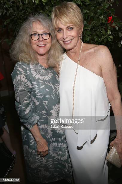 Blythe Danner and Joanna Cassidy attend The Cinema Society Kargo host the after party for the Season 3 Premiere of Bravo's Odd Mom Out on July 11...