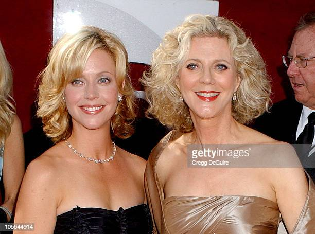 Blythe Danner and niece Hillary during The 57th Annual Emmy Awards - Arrivals at Shrine Auditorium in Los Angeles, California, United States.