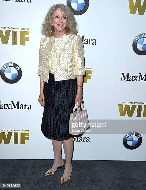 Blythe Danner arrives at the Women In Film 2016 Crystal Lucy Awards Presented By Max Mara And BMW at The Beverly Hilton Hotel on June 15 2016 in...