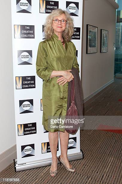 Blythe Danner attends the 2011 Creative Coalition Spotlight Initiative Awards at the HSBC Bank Building on April 26 2011 in New York City