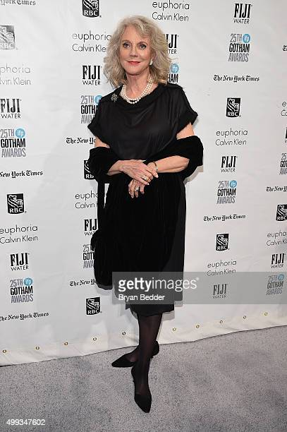 Blythe Danner attends the 25th IFP Gotham Independent Film Awards cosponsored by FIJI Water on November 30 2015 in New York City