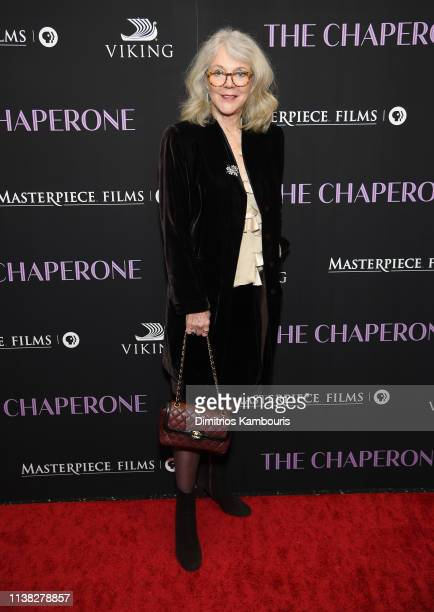 Blythe Danner attends The Chaperone New York Premiere at Museum of Modern Art on March 25 2019 in New York City