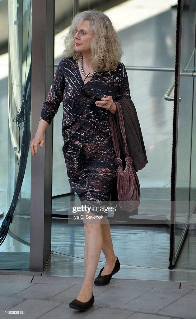 Blythe Danner attends the Nora Ephron Memorial Service on July 9, 2012 in New York City.