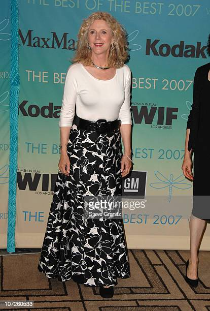 Blythe Danner during 2007 Women In Film Crystal Lucy Awards Arrivals at Beverly Hilton in Beverly Hills California United States