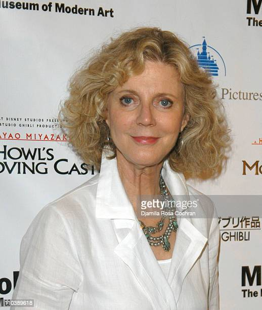 Blythe Danner during Howl's Moving Castle New York City Premiere at The Museum of Modern Art in New York New York United States