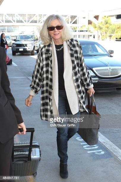 Blythe Danner is seen at Los Angeles International airport on April 14 2014 in Los Angeles California
