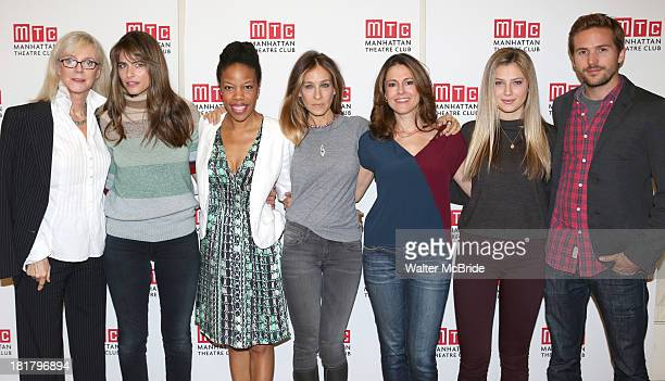 Blythe Danner Playwright Amanda Peet Nilaja Sun Sarah Jessica Parker Ali Marsh Zoe Levin and Michael StahlDavid attending the Meet Greet for the MTC...