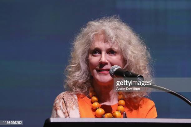 Blythe Danner speaks on stage during the 2019 Sarasota Film Festival on April 13 2019 in Sarasota Florida