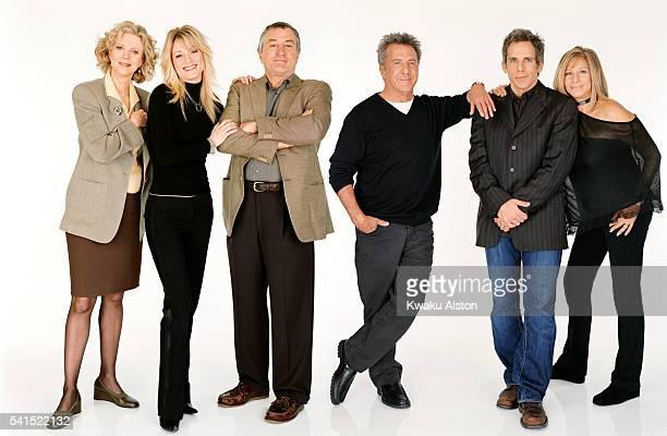 Blythe Danner, Teri Polo, Robert de Niro, Dustan Hoffman, Ben Stiller, and Barbra Streisand.