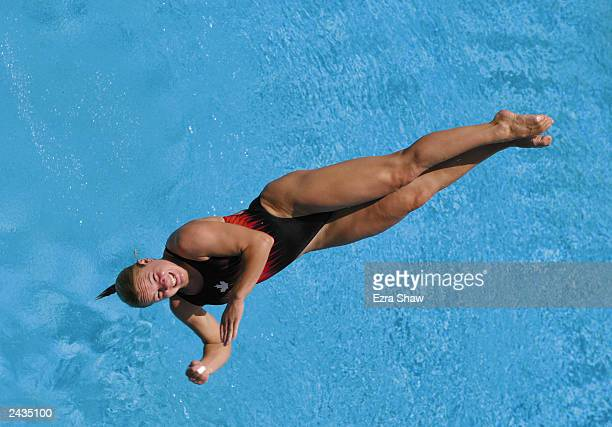 Blythe Hartley of Canada during diving practice at Centro Olimpico Juan Pablo Duarte on August 5 2003 at the XIV Pan American Games in Santo Domingo...