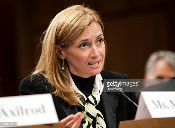 Blythe Masters managing director and head of the global commodities group at JPMorgan Chase Co testifies at a Senate Agriculture hearing in...