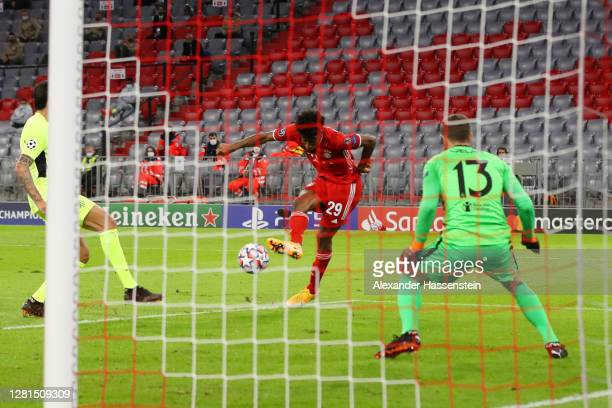 Bm during the UEFA Champions League Group A stage match between FC Bayern Muenchen and Atletico Madrid at Allianz Arena on October 21, 2020 in...