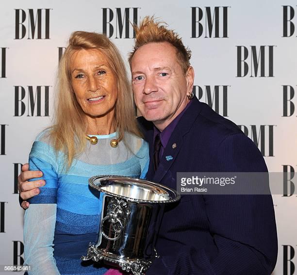 Bmi London Awards Britain 15 Oct 2013 Nora Forster And John Lydon Recipient Of Bmi Icon Award