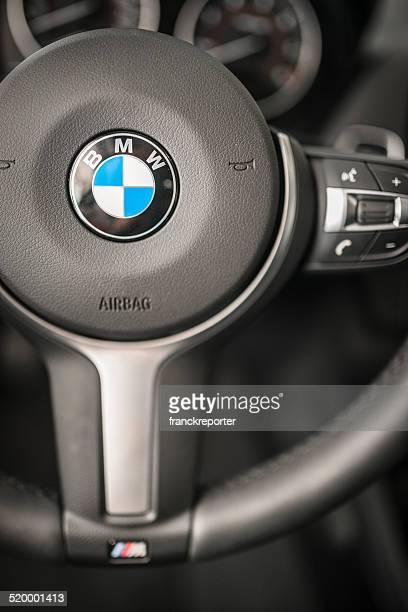 bmw steering wheel of the new 2 series coupe - bmw bildbanksfoton och bilder