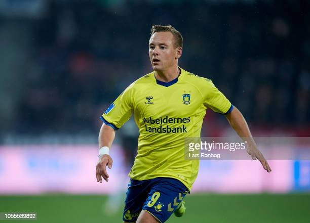 $bn9$ in action during the Danish Superliga match between FC Midtjylland and Brondby IF at MCH Arena on October 29 2018 in Herning Denmark