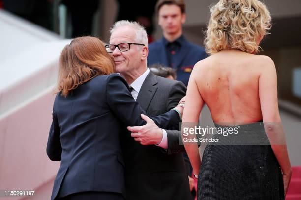 Bénédicte Couvreur director of the festival Thierry Fremaux and Valeria Golino attend the screening of Portrait Of A Lady On Fire during the 72nd...