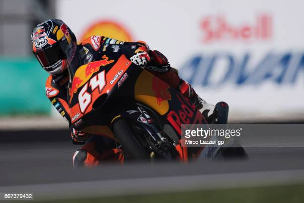Bo Bendsneyder of Netherlands and Red Bull KTM Ajo rounds the bend during the qualifying practice during the MotoGP Of Malaysia Qualifying at Sepang...