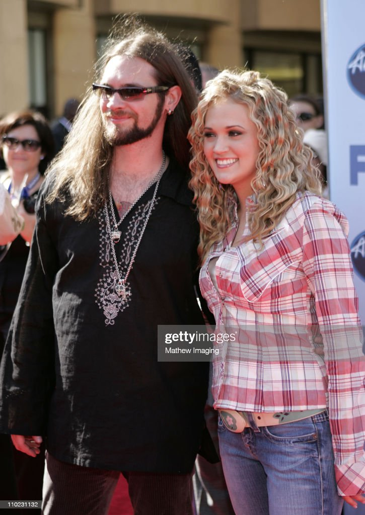 Bo Bice and Carrie Underwood during 'American Idol' Season 4 - Finale - Arrivals at The Kodak Theatre in Hollywood, California, United States.