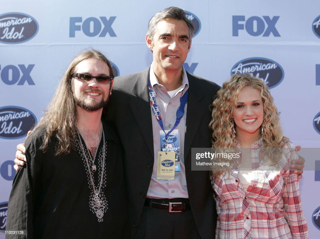 Bo Bice, Peter Liguori, President of Entertainment, Fox Broadcasting Co. and Carrie Underwood.