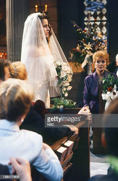 LIVES 'Bo Brady Carly Manning Kiriakis Wedding' Pictured Crystal Chappell as Carly Manning Robert KelkerKelly as Bo Brady