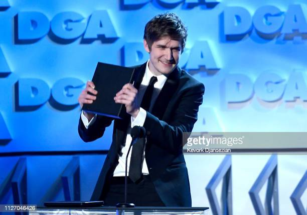 Bo Burnham accepts the FirstTime Feature Film Award for 'Eighth Grade' onstage during the 71st Annual Directors Guild Of America Awards at The Ray...
