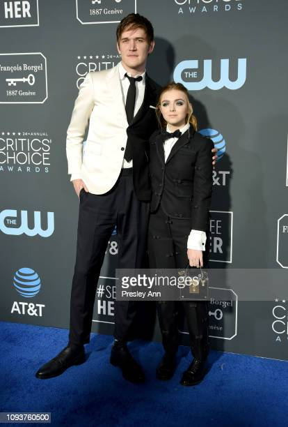 Bo Burnham and Elsie Fisher at The 24th Annual Critics' Choice Awards at Barker Hangar on January 13 2019 in Santa Monica California