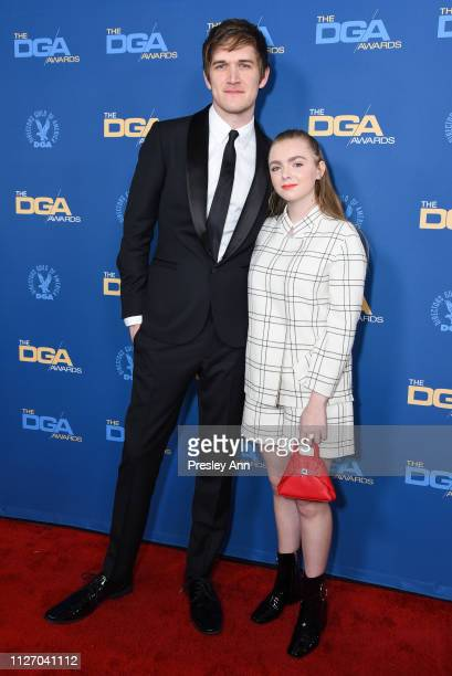 Bo Burnham and Elsie Fisher attend 71st Annual Directors Guild Of America Awards at The Ray Dolby Ballroom at Hollywood Highland Center on February...